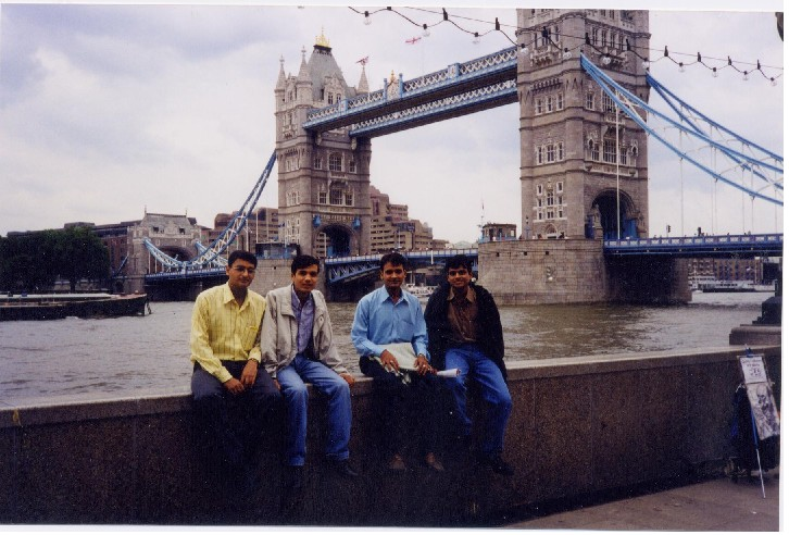 London Himanshu,Piyush,Rajeev,Nitesh; Actual size=240 pixels wide